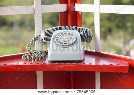 Old-fashioned Telephone Booth