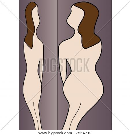 Nude Woman Silhouettes