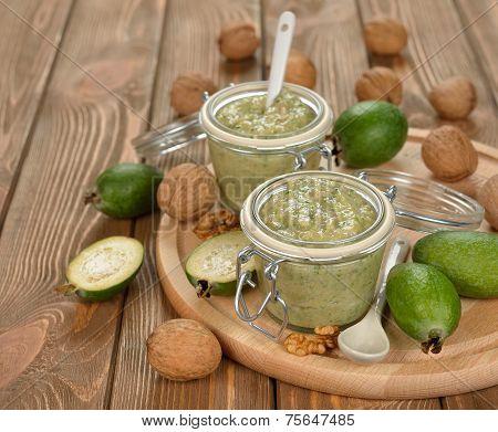 Crude Jam Of Feijoa And Walnuts