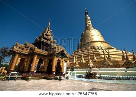 Important Large Golden Pagoda In Bago City,Myanmar .