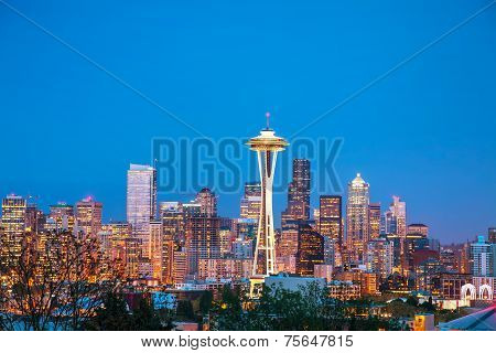 Downtown Seattle As Seen From The Kerry Park