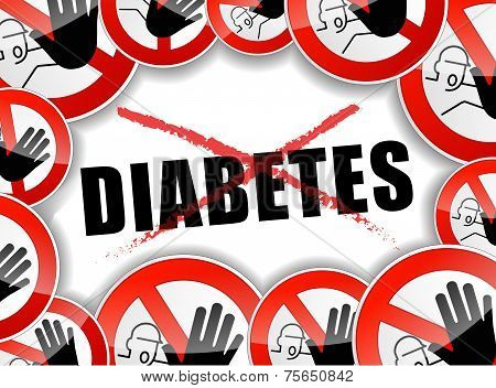 No Diabetes Abstract Concept