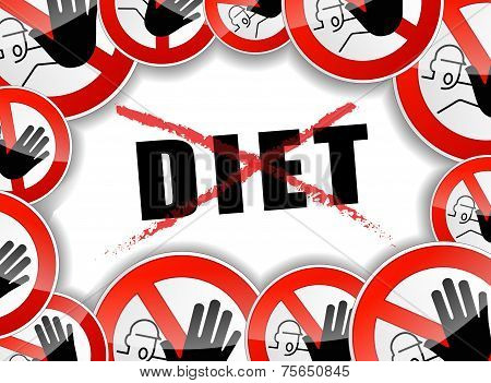 No Diet Abstract Concept