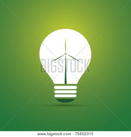Green Eco Energy Concept Icon - Wind Power