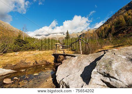 Wooden Bridge - Adamello Trento Italy