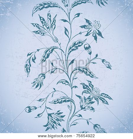 Vector Aged Ornamental Background.