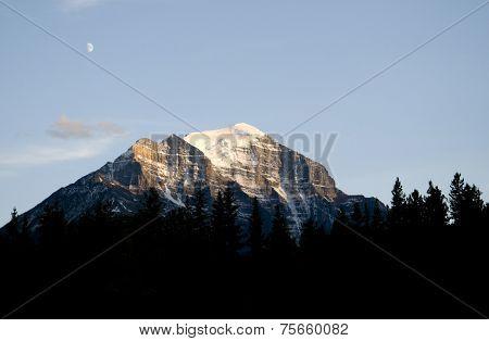 Rocky Mountain At Dusk