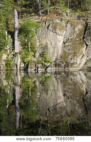 Rock Face Reflection