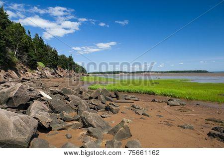 Bay Of Fundy Shoreline