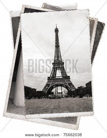 Vintage Photo Eiffel Tower In Paris