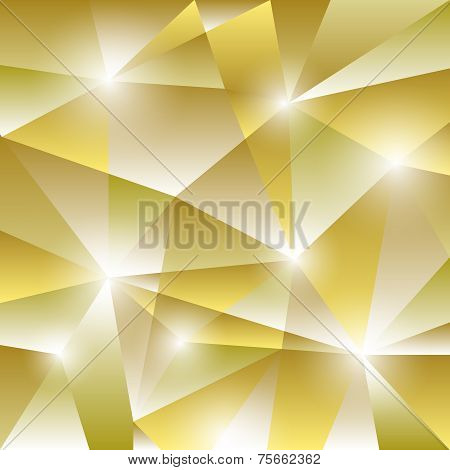 Geometric Pattern With Golden Triangles Background