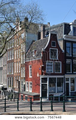 Typical Dutch Houses In Amsterdam