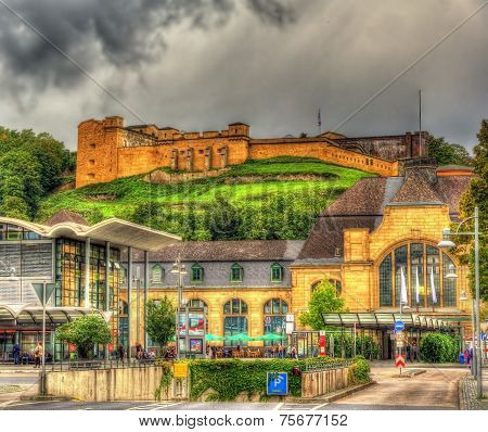 Fort Konstantin And Railway Station In Koblenz, Germany