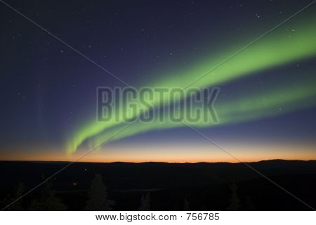 Twilight And Northern Lights