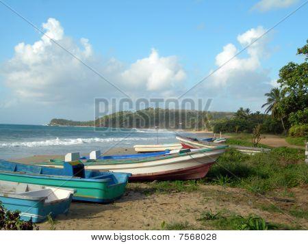Fishing Boat Long Bay Beach Corn Island Nicaragua