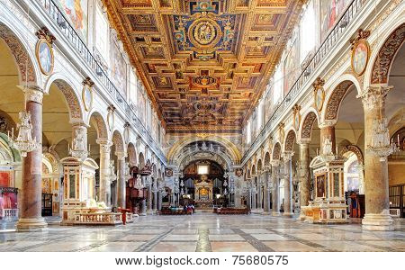 Rome, March - 21: Interior Of Church Santa Maria Aracoeli. March 21, 2014 In Rome, Italy