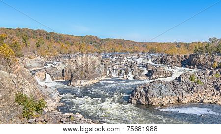 Fall Colors, Potomac River, River Trail, Great Falls National Park, VA