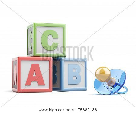 pacifier and buzzword blocks