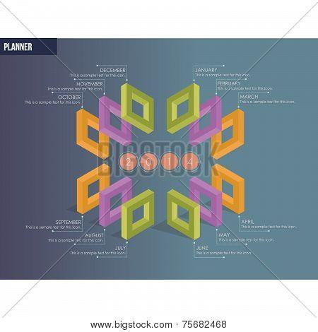 Modern Design Planner - Calendar