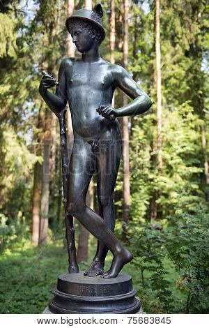 Sculpture Mercury, Patron God Of Commerce, Pavlovsk Park