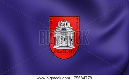 Flag Of Avila City, Spain.