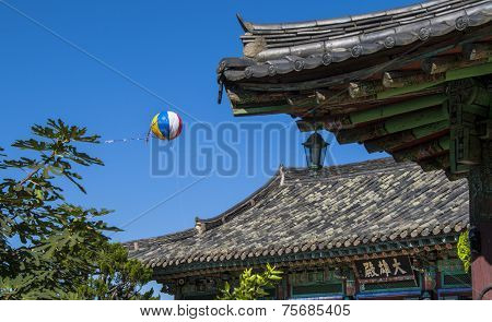 Asian Air Balloon And Roof Detail