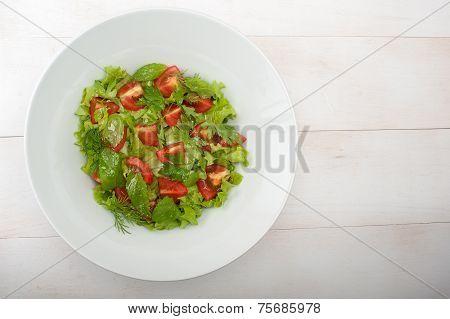 Mediterranian Salad With Dressing
