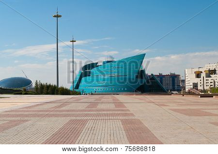 Kazakhstan Central Concert Hall In Astana