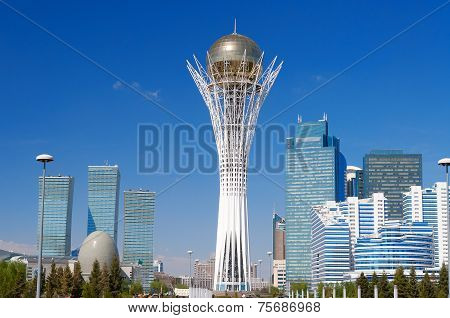 Bayterek Is A Monument In Astana. Kazakhstan