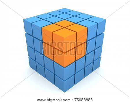 abstract 3d cube