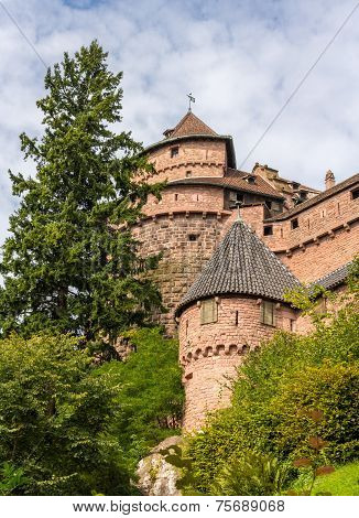 Towers Of Haut-koenigsbourg Castle In Alsace, France