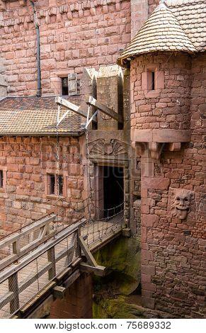Details Of Haut-koenigsbourg Castle - Alsace, France