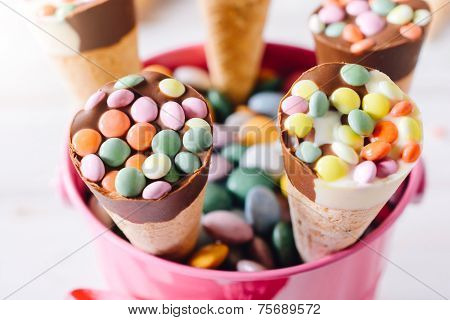 Ice Cream In Baskets