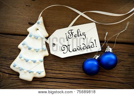 Christmas Background With Spanish Christmas Greetings