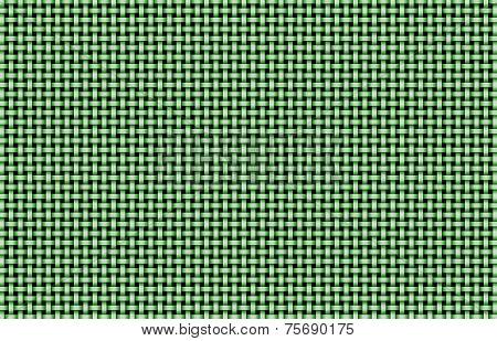 Green Basket Weave Background