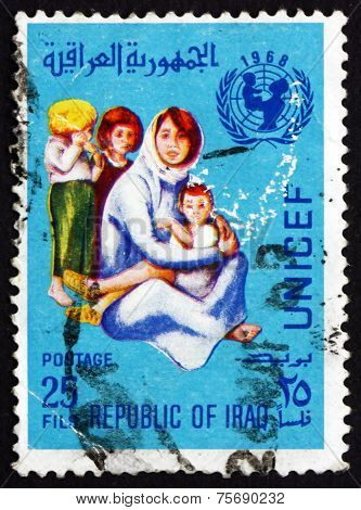 Postage Stamp Iraq 1968 Mother And Children