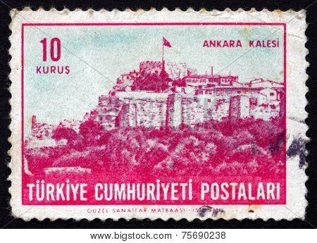 Postage Stamp Turkey 1963 Ankara Citadel