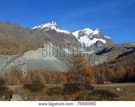 Autumn Scene In Zermatt