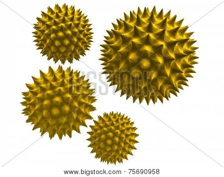 3d rendered illustration of isolated pollen