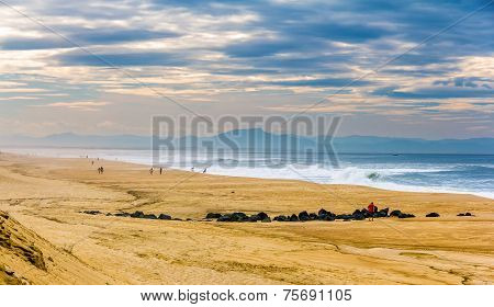 Beach On The Atlantic Ocean Near Seignosse - France, Aquitaine