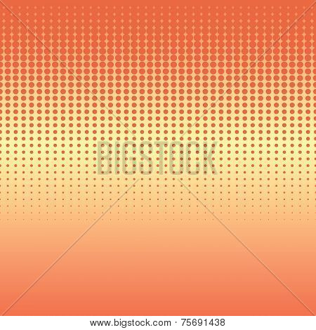 Seamless Background With Halftone Stripes In Warm Colors