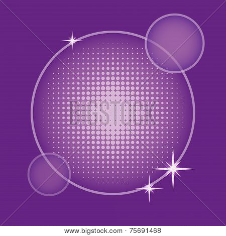 Background With Round Halftone In Purple Shades