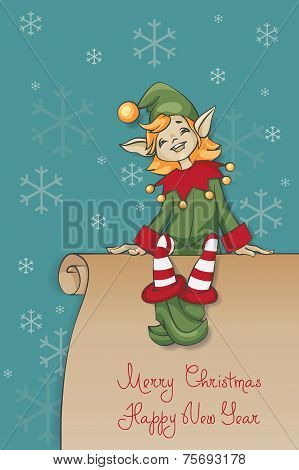 Christmas Santa Elf design