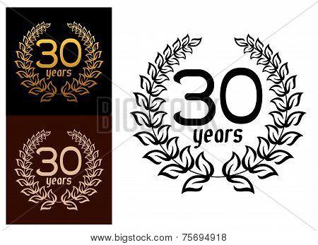 30 Years anniversary wreaths