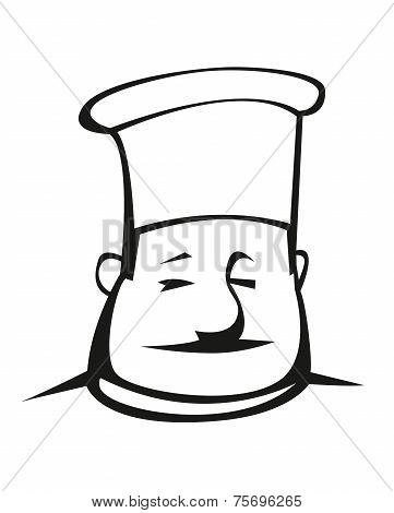 Overweight chef in a toque