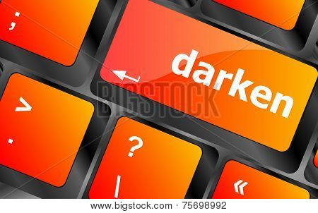 Darken Word On Keyboard Key, Notebook Computer Button