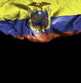 image of guayaquil  - Ecuador waving flag on black background - JPG