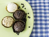 foto of sweetie  - Brazilian sweeties on a green plate - JPG
