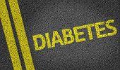 image of diabetes symptoms  - Diabetes written on the road - JPG