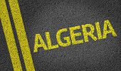 picture of algiers  - Algeria written on the road - JPG